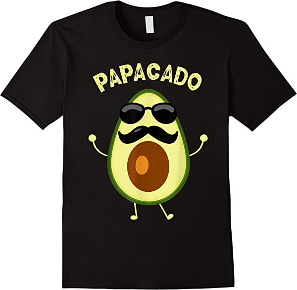 Funny Papacado Dad Halloween Couples Costume Father T-shirt