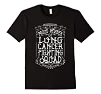 Fighting Squad Lung Cancer Awareness T-shirt Black