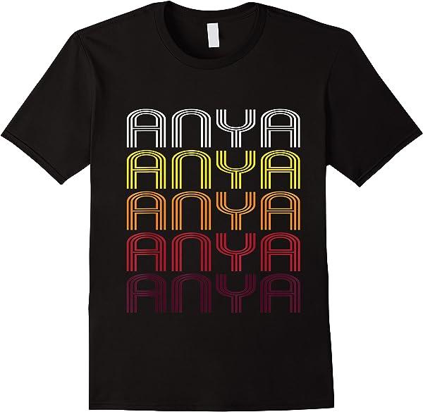Anya Retro Wordmark Pattern - Vintage Style T-shirt