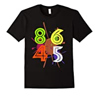 8645 Impeach Trump Anti Trump 8645 T Shirts Black