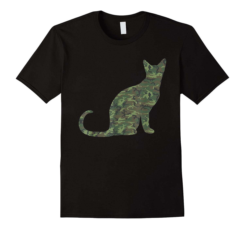 Military Balinese Camo Print Us Feline Cat Veteran Gift Shirts