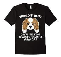 S World's Best Cavalier King Charles Spaniel Grandpa T-shirt Black