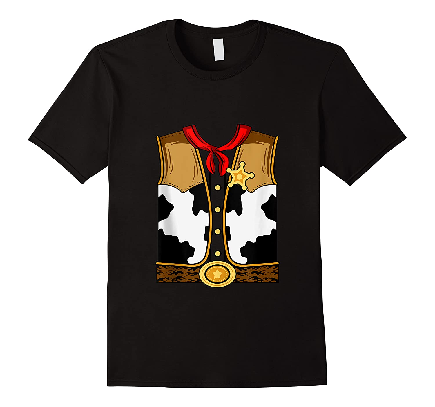 Funny Western American Sheriff Horse Riding Easy Costume Shirts