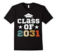 Vintage First Grade 2019 Class Of 2031 Apparel Grow With Me Shirts Black