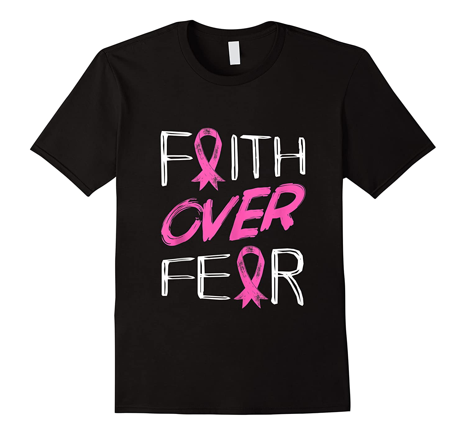 Faith Over R Breast Cancer Awareness Month Pink Ribbon Tank Top Shirts