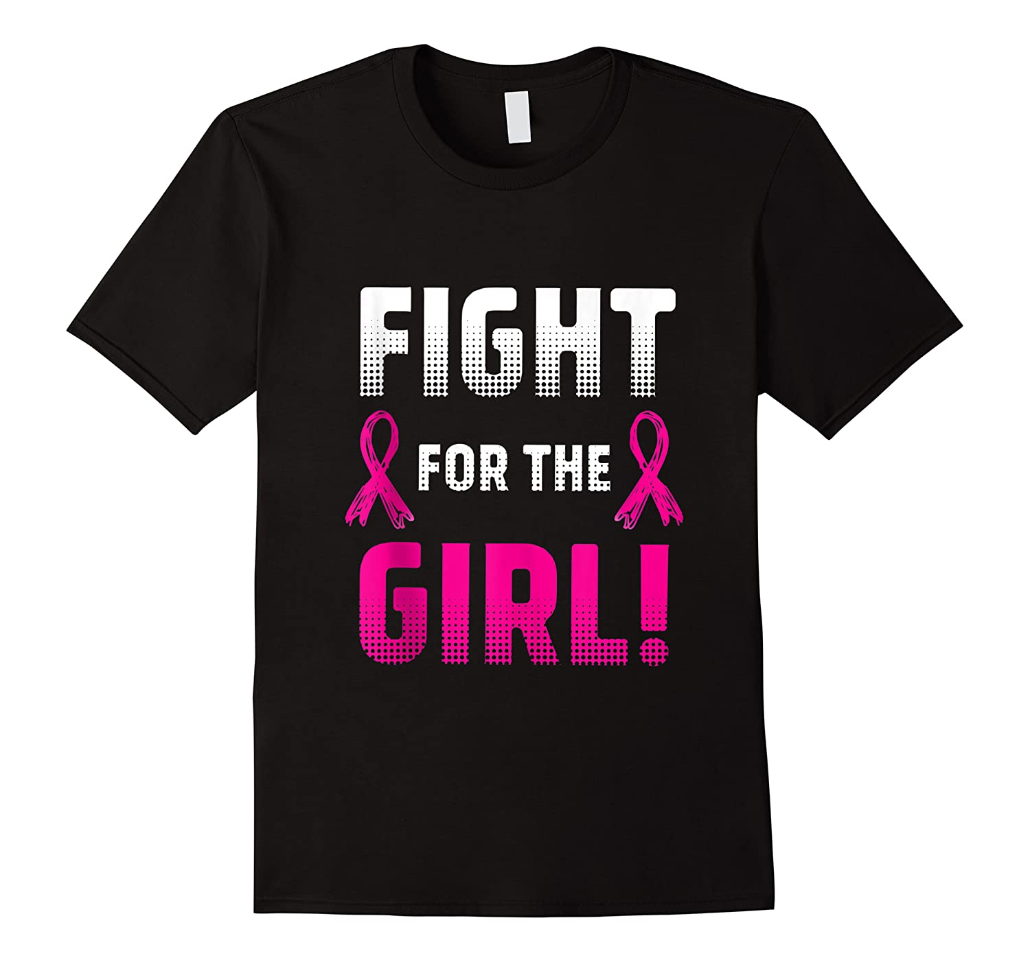 Fight For The Girl Breast Cancer Awareness Month Pink Ribbon Tank Top Shirts