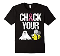 Check Your Boo Bees Shirt Funny Breast Cancer Halloween Gift Black