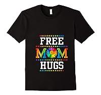 Free Mom Hugs Cute Flower Pride Lgbt Month 2019 Gift Shirts Black