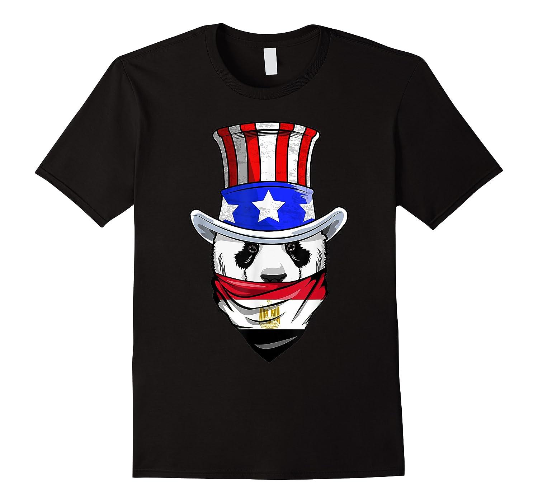 Egyptian Panda Bear In Egypt Bandana Flag Shirts