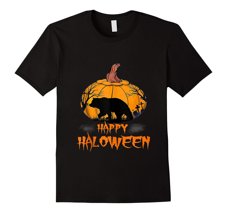 Bear Pumpkin Happy Halloween Costume Shirts
