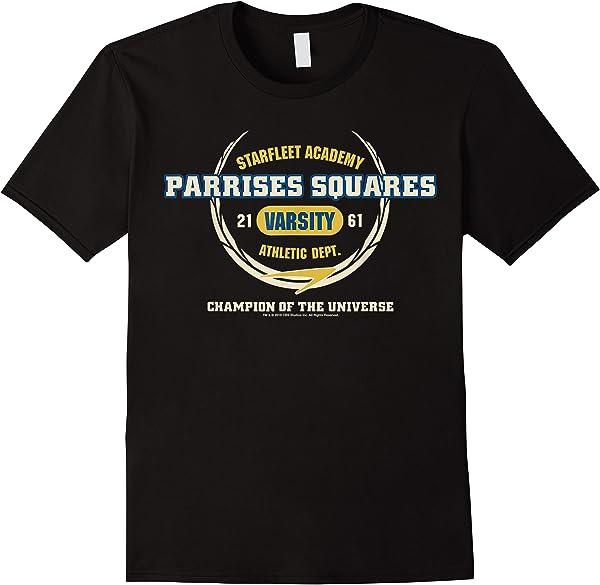 Star Trek Starfleet Academy Parrises Squares Varsity T-shirt