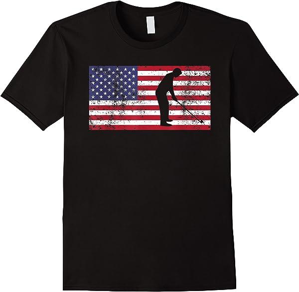 4th Of July T Shirt American Flag Golf Christmas Gift