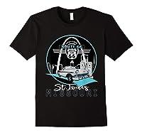 Saint Louis Missouri Route 66 Iconic Gateway Arch Souvenir T-shirt Black
