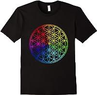 Blume Des Lebens Heilige Geometrie Spirituell Zen Yoga T-shirt Black
