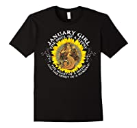 January Girl The Soul Of A Mermaid Tshirt Birthday Gifts Black