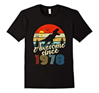 Dinosaur 41st Birthday Gifts Awesome 1978 41 Yrs Old Shirts Black