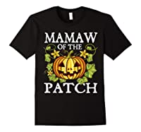 Mamaw Of The Patch Pumpkin Halloween Costume Gift Shirts Black