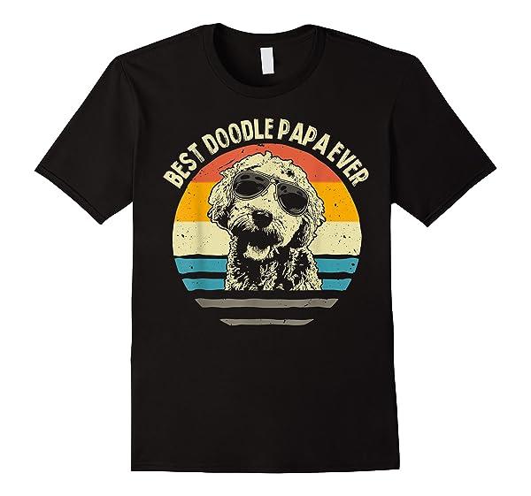 S Best Doodle Papa Ever T Shirt Goldendoodle Dad Vintage Gift