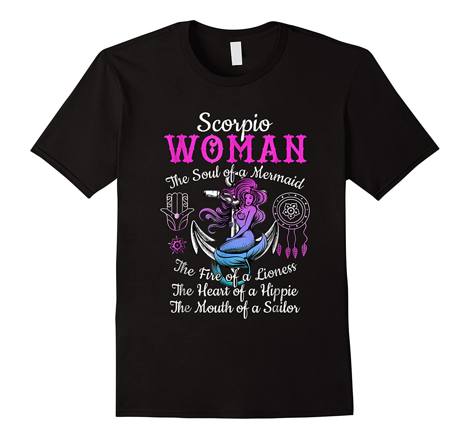 Scorpio With Mermaid Soul And Hippie Heart Shirts
