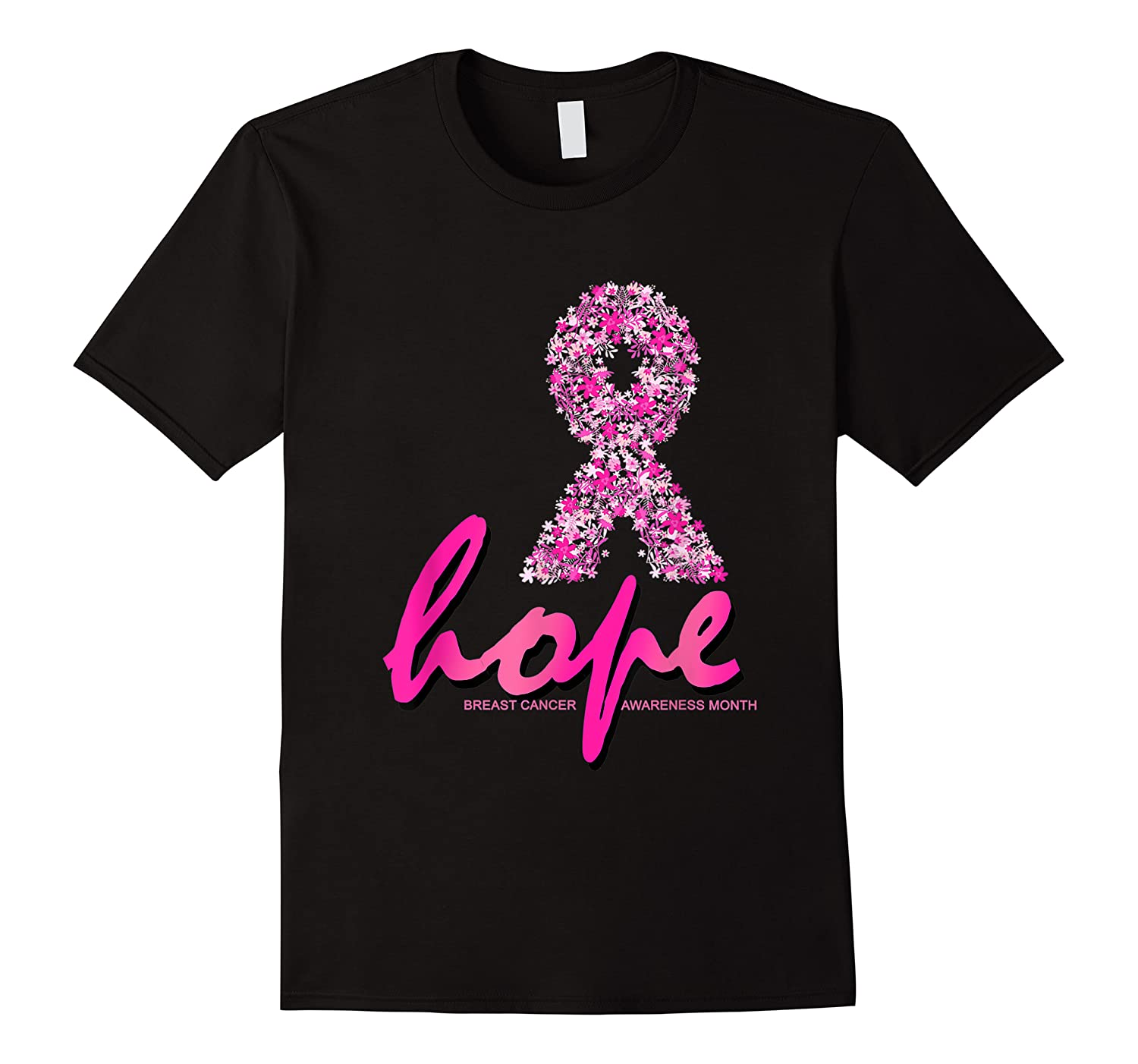 Hope Pink Ribbon Breast Cancer Awareness Month T Shirt