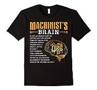 Funny Machinist Gifts Machinist S Brain Shirts Black