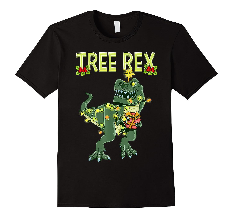 Tree Rex Shirt Christmas T Rex Dinosaur Pajama T-shirt