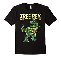 Tree Rex Shirt Christmas T Rex Dinosaur Pajama T-shirt Black
