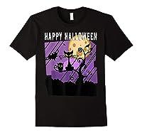 Spoopy Funny Halloween Black Cat Witch Hallow S Eve Joke T Shirt Black