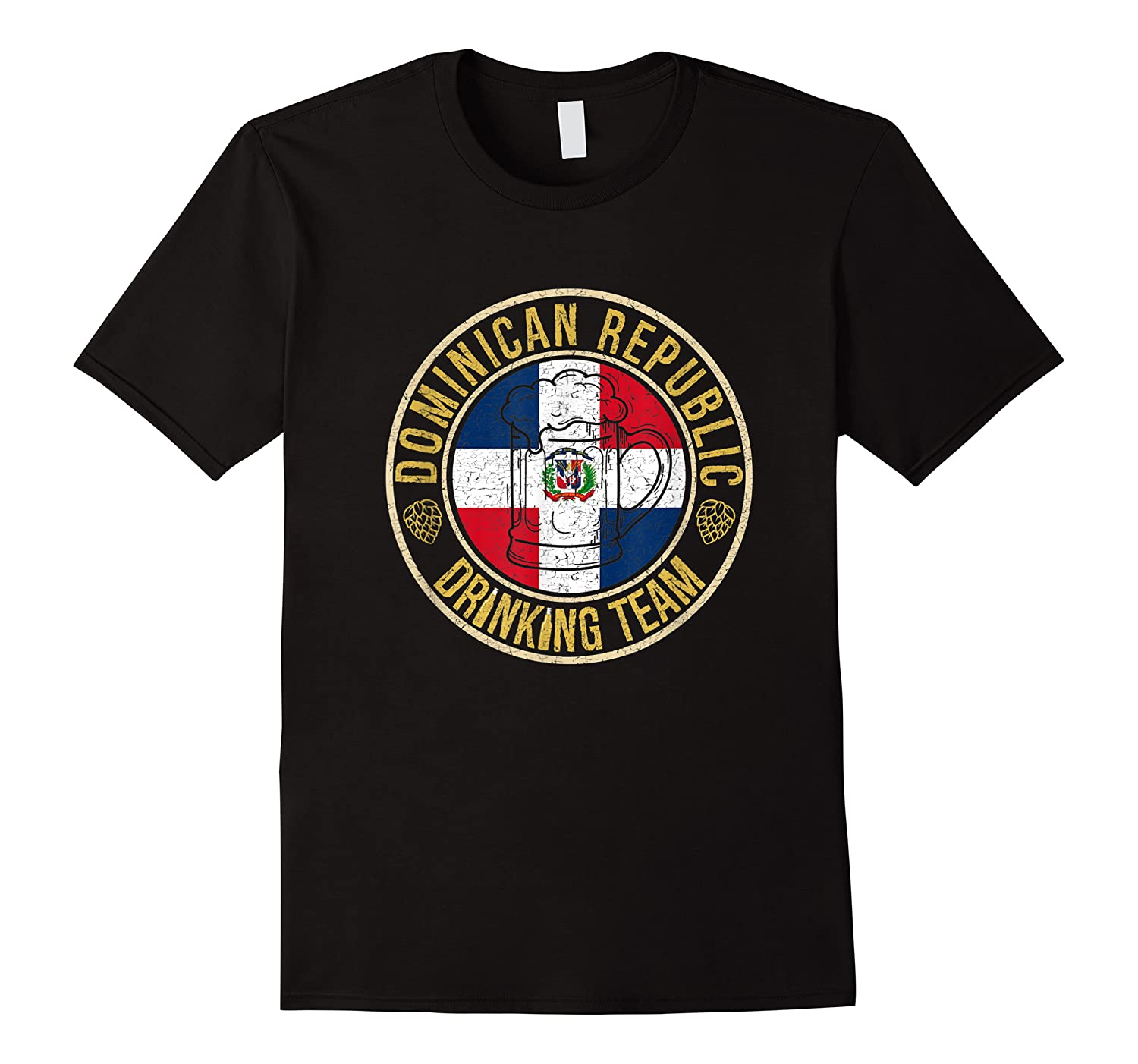 Funny Beer Dominican Republic Drinking Team Casual T-shirt