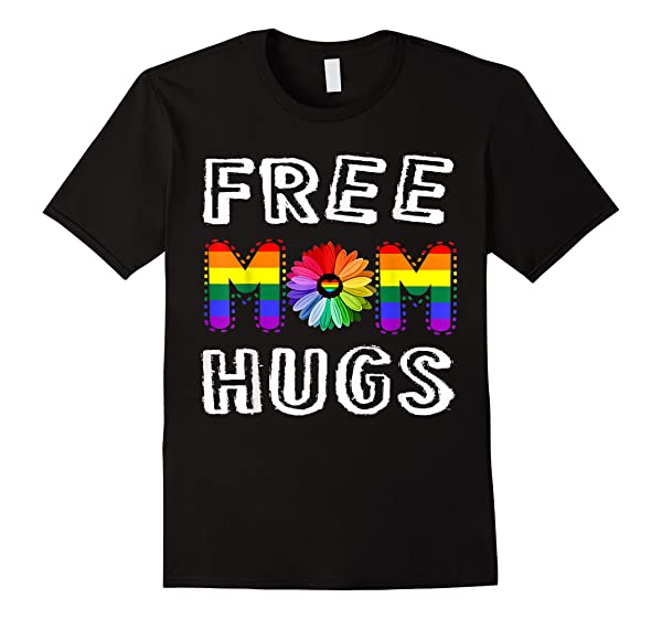 Free Mom Hugs Rainbow Floral T Shirt Pride Month Gift