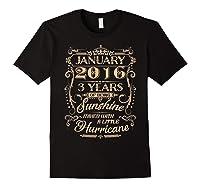August 2016 - 3 Years Of Being Sunshine Birthday Shirt Black