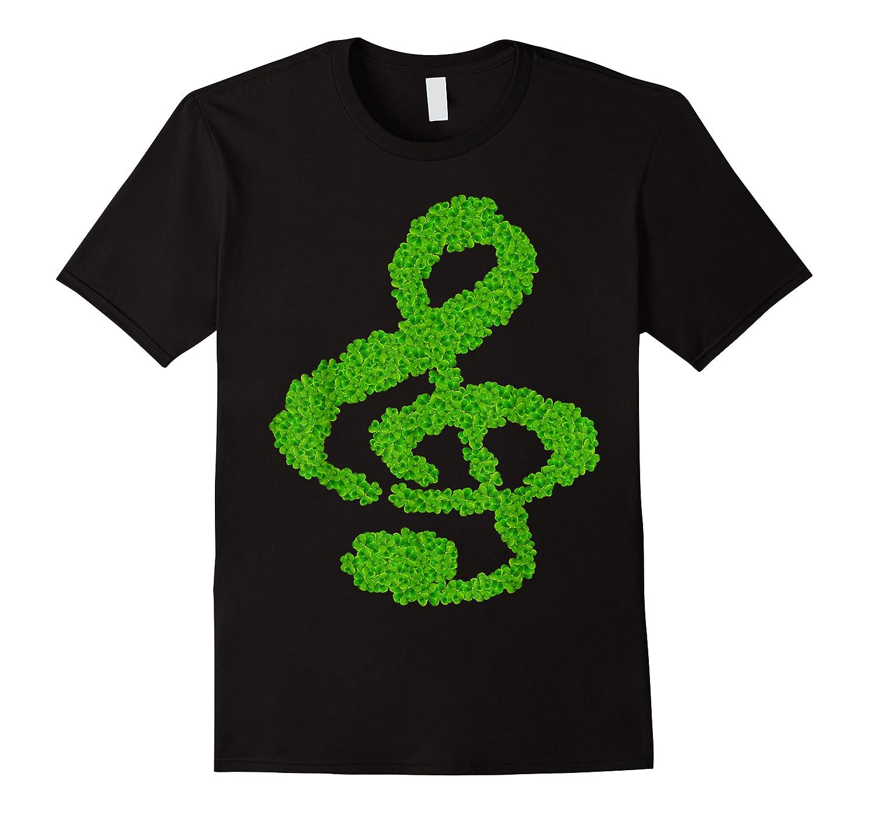 Music Note Shamrock Funny St Saint Patrick S Day T Shirt