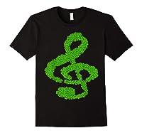 Music Note Shamrock Funny St Saint Patrick S Day T Shirt Black