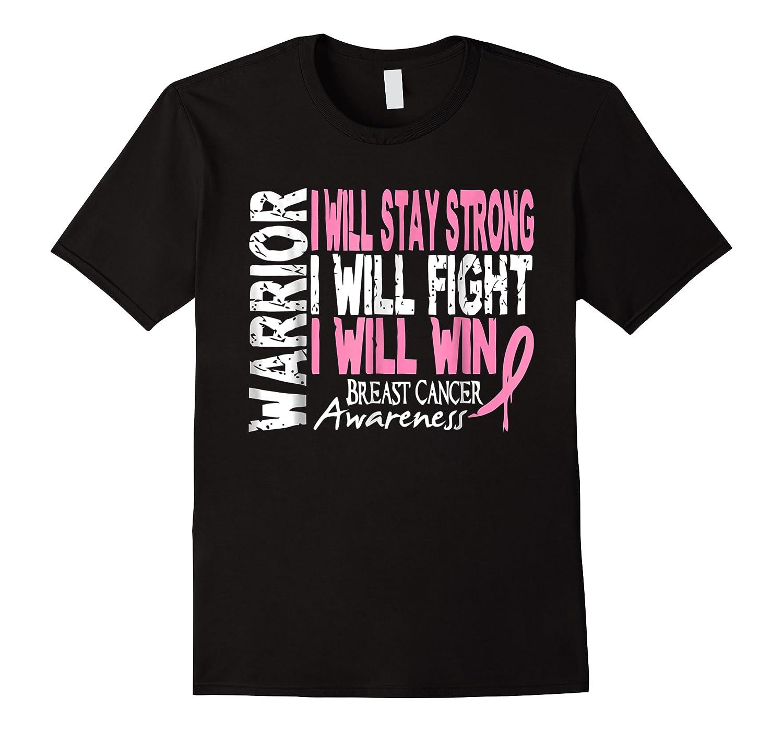 Breast Cancer Awareness Month Pink Ribbon Warrior T Shirt