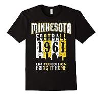 Minnesota 1961 Skyline Throwback Football Shirts Black