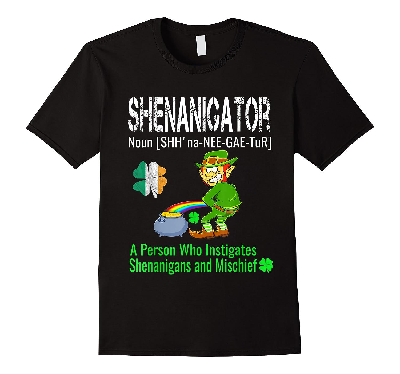 Shenanigator Tshirt Saint Patrick Day Irish Four Leaf Clover