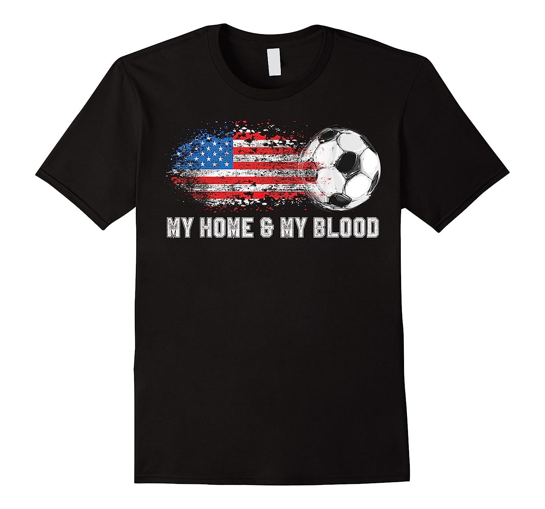 Us My Home Soccer My Favorite Sport Vintage Flag Funny Shirts