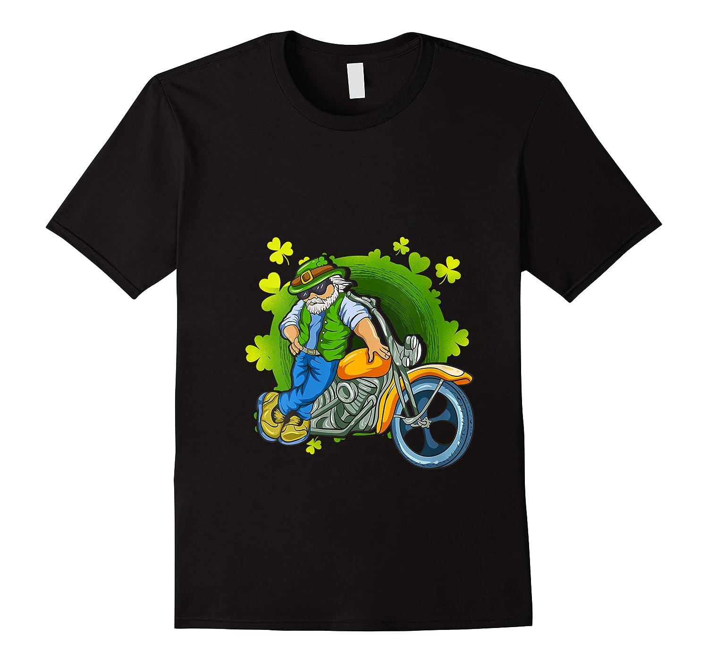 Irish Motorcycle Biker Dude Beard Patrick Old Man Papa T Shirt