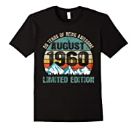 Born August 59 Limited Edition Bday Gift 59th Birthday Shirts Black