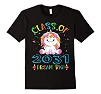 Class Of 2031 Grow With Me Unicorn Back To School Shirts Black