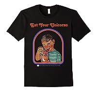 Eat Your Unicorn Meat T-shirt Black