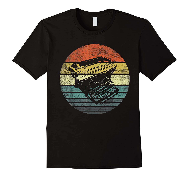 Writer Author Gifts Funny Retro Typewriter Writing T Shirt