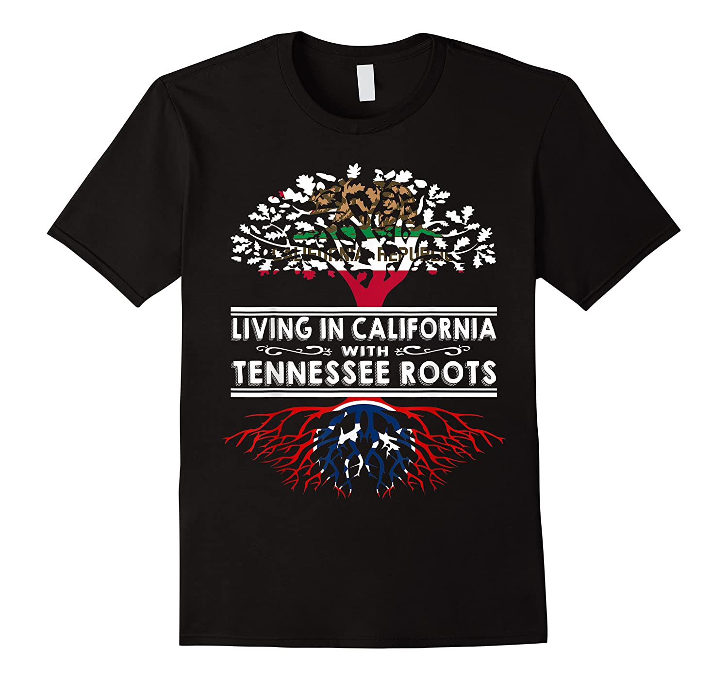 Living In California Home Tennessee Roots State Tree Shirts