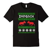 Impeach Christmas T Shirt Anti Trump Tee Black