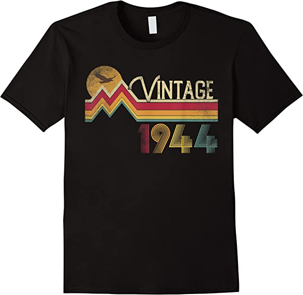 77th Birthday Shirt 1944 77 Years Old Vintage Retro Style T-shirt