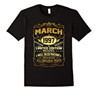 March 1997 Vintage 22nd Birthday 22 Years Old Gif Shirts Black