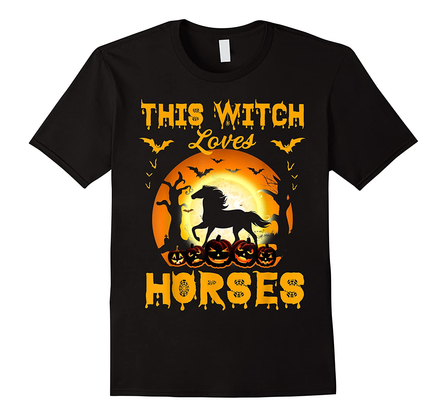 This Witch Loves Horses T-shirt Halloween Cosplay