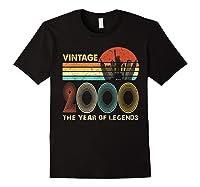 19th Birthday Gift Vintage 2000 T-shirt 19 Years Old T-shirt Black