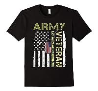 American Flag Camo Proud Us Army Veteran T-shirt Black