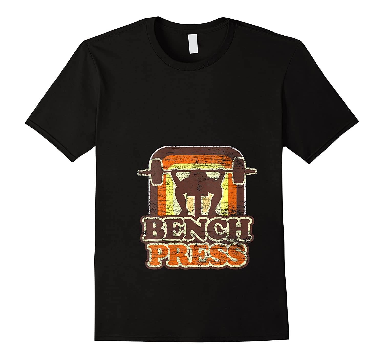 Vintage Bench Press Gym Training Sport Workout Shirts